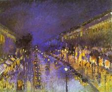 'Boulevard Montmartre at Night'<br>Camille Pissarro, 1897